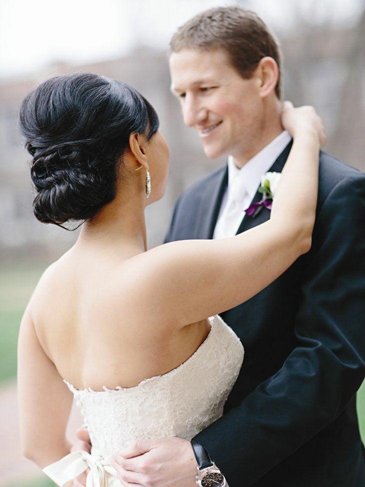 Bouffant wedding updo idea