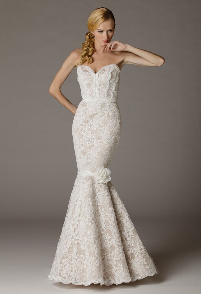 Aria Wedding Dresses 2015 Incorporate Feathers and Ruffles for Fall
