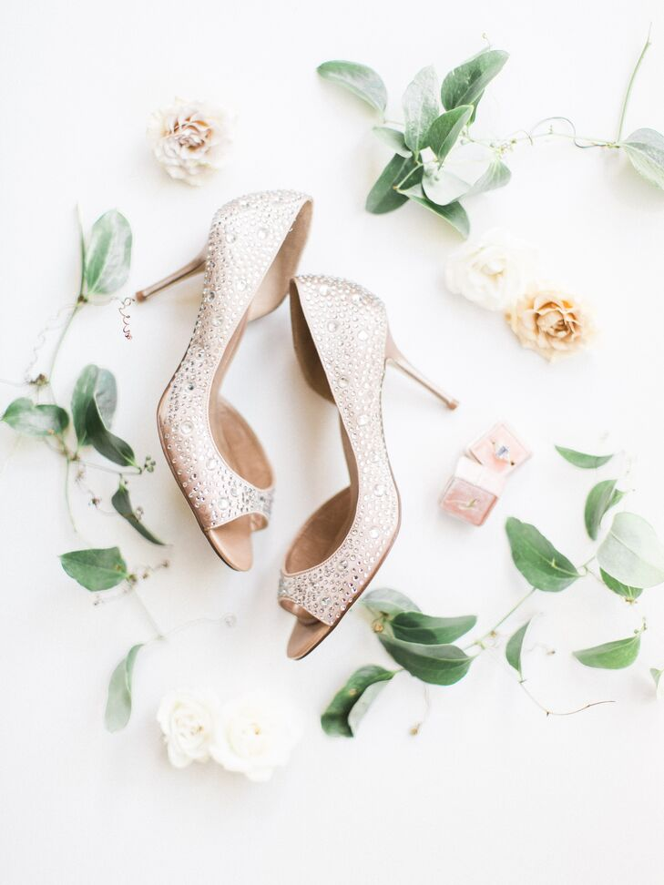 Embellished Bride Heels