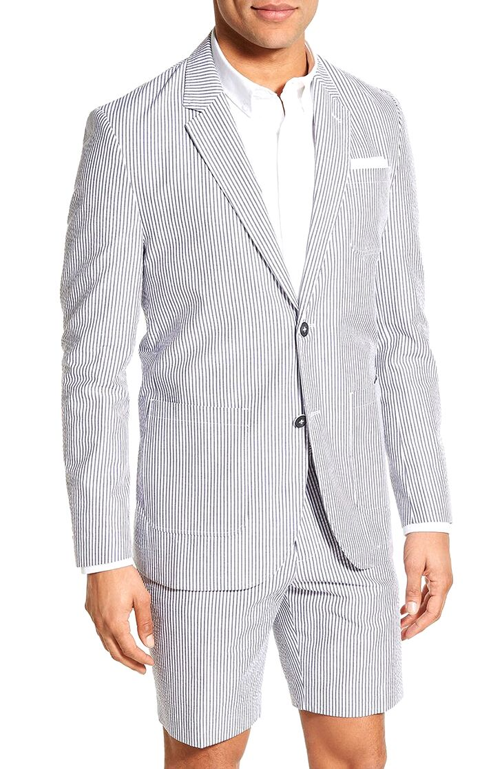 Seerer Blazer Mens Beach Wedding Attire