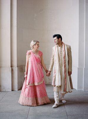 Couple in Traditional Indian Lehenga and Sherwani