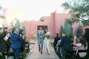 Modern Bohemian Recessional at Sands Hotel & Spa in Indian Wells, California