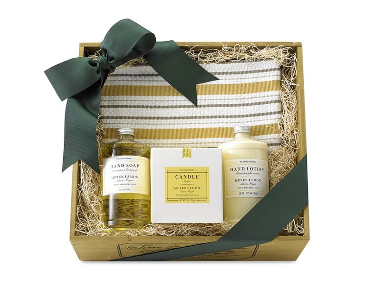 Williams Sonoma Meyer Lemon essential oils collection gift crate