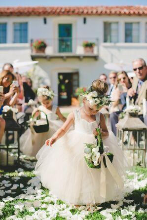 Romantic Outdoor Wedding Flower Girls