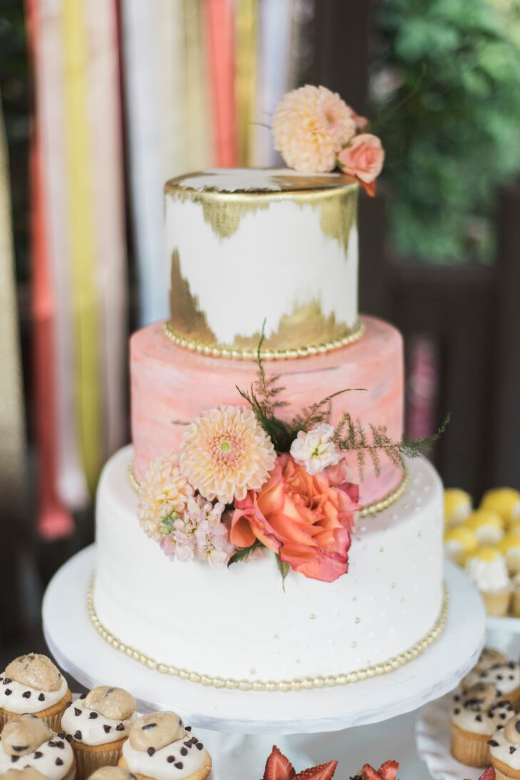 """We had a Funfetti, mocha and lemon cake that was beyond stunning,"" Jillian says. The From Scratch Bakery cake was set out among a variety of desserts, from cupcakes to snickerdoodles."