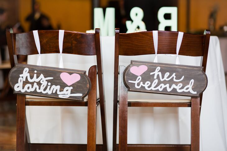 Rustic Wood His and Hers Chair Signs