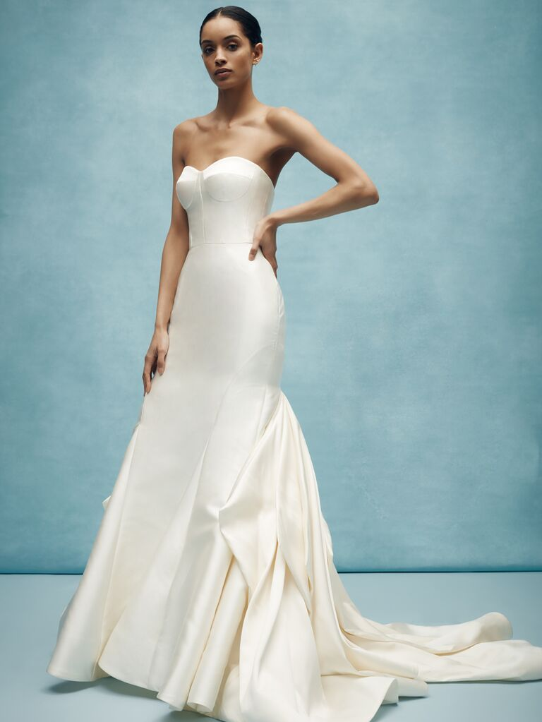 Anne Barge simple sexy wedding dress
