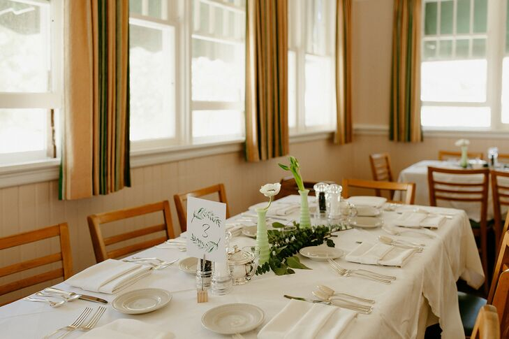 Simple Tablescape at Watervale Inn in Michigan