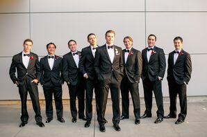 Black Tie Groomsmen Tuxedos at W Austin Hotel