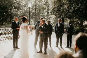 Vows at at Forsyth Park in Savannah, Georgia
