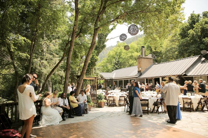 Outdoor Reception Under Tall Trees