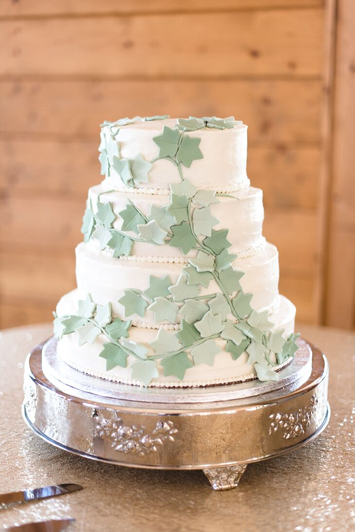 Ivy Fondant Wedding Cake