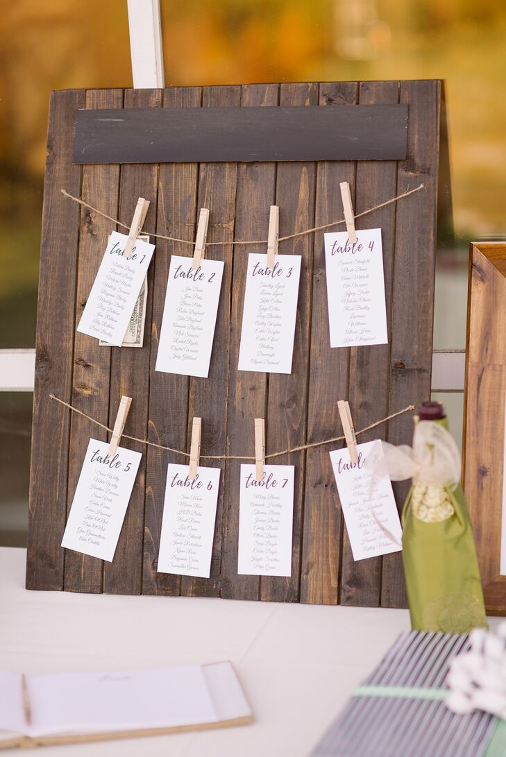 Rustic DIY Seating Chart