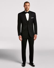 Men's Wearhouse BLACK By Vera Wang Black Notch Lapel Black Tuxedo