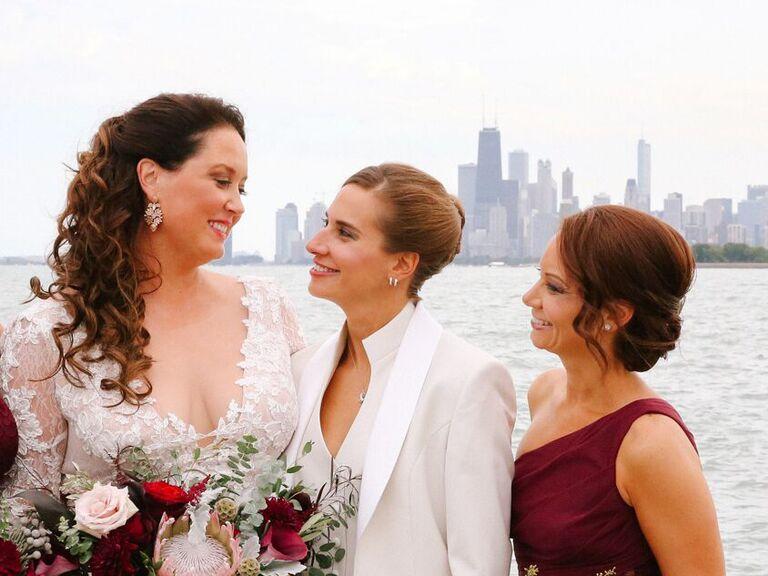 Bridesmaid updos chignon