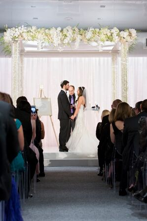 Jewish Ceremony Under Lucite Chuppah