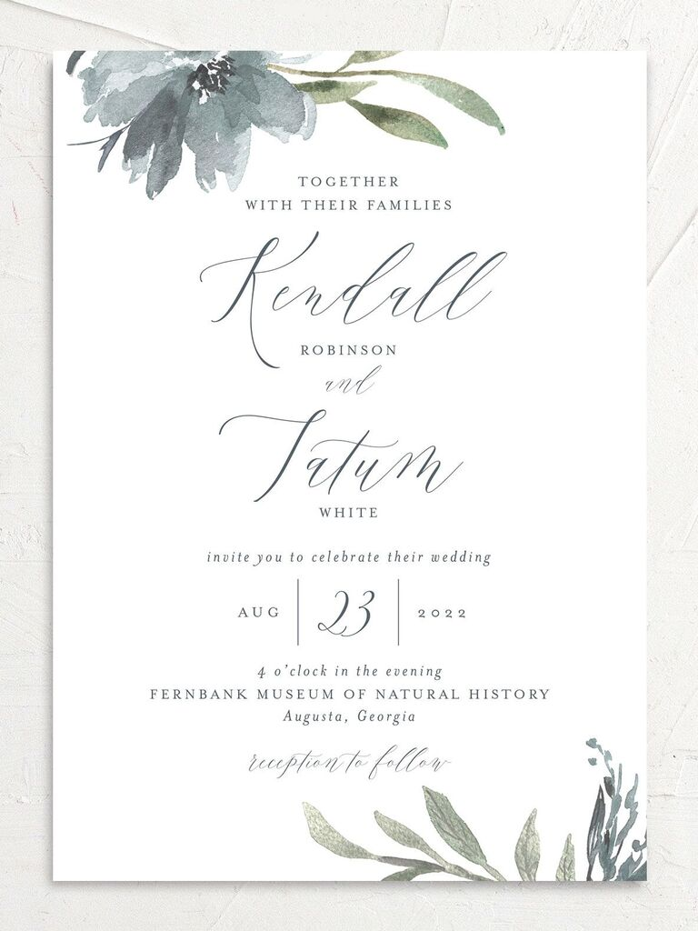 Wedding Invitation Wording Traditional Modern Examples