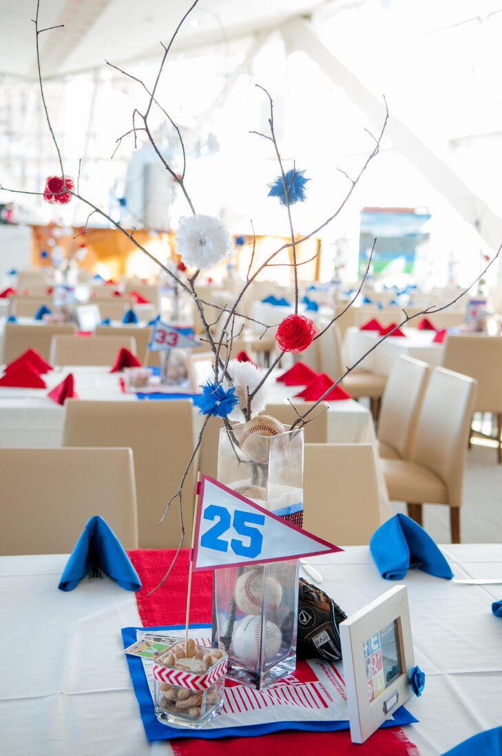 Whimsical Baseball-Inspired Centerpieces
