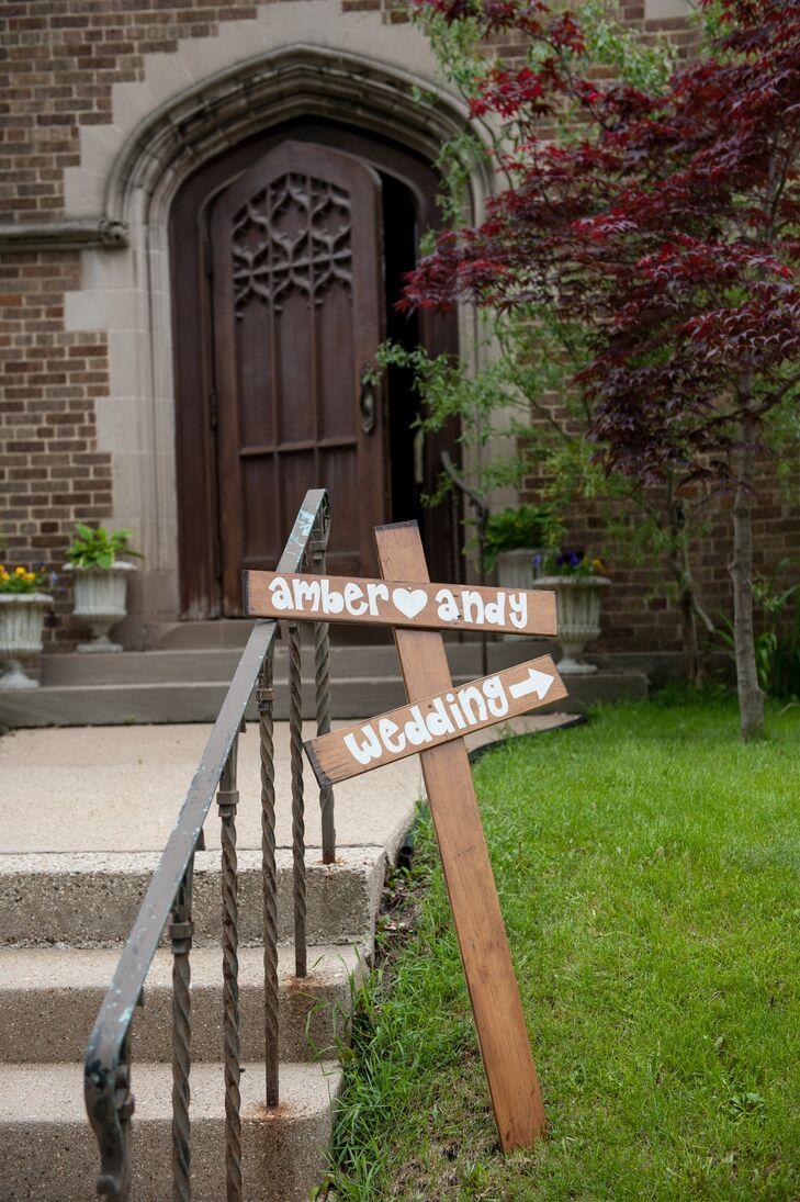 DIY Wooden Ceremony Sign