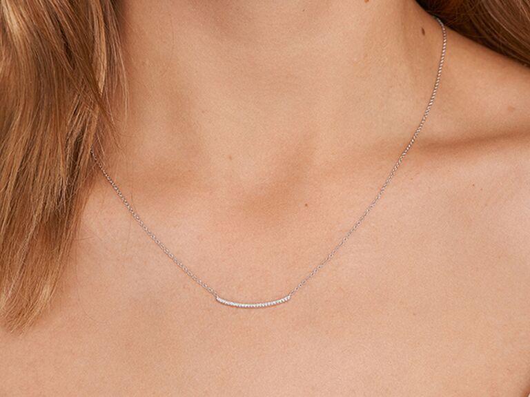 Diamond necklace 10 year anniversary gift