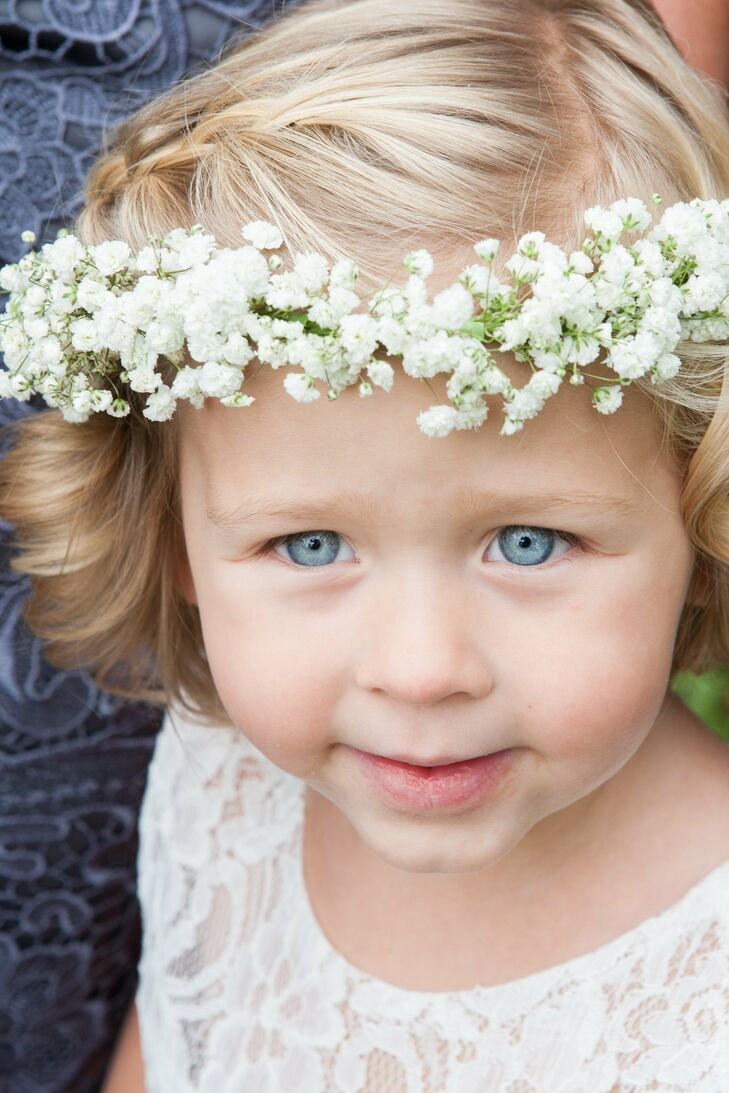 Baby's Breath Flower Girl Crown