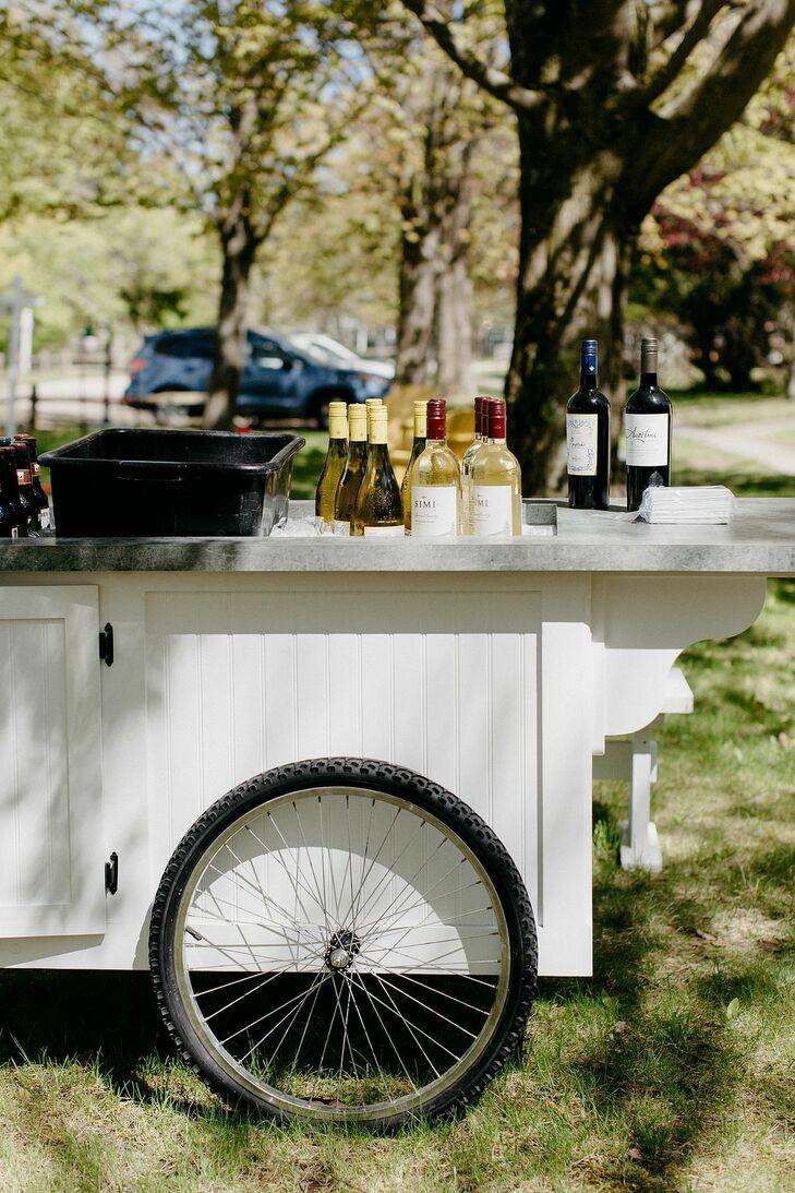 Bar Car at Lakefront Michigan Wedding