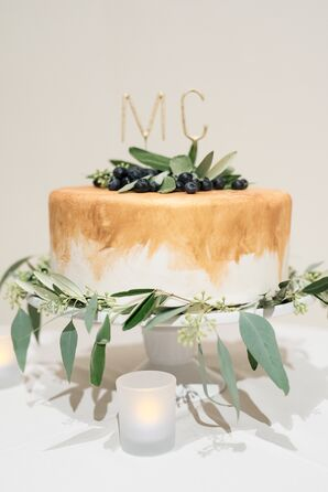 Naturalistic Wedding Cake, Gold and Ivory