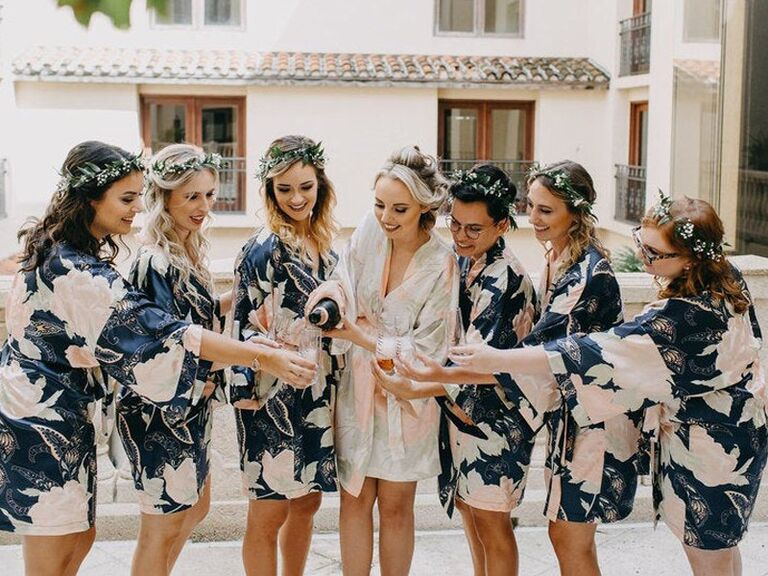 Floral bridesmaid robes