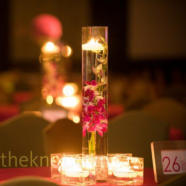 Pink Orchid Centerpieces Favorite To Contrast With The Large Pomanders That Served As Main Alternate Arrangements Included