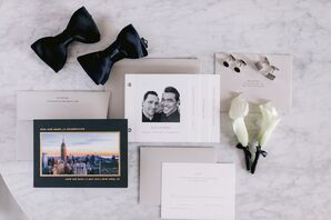 Elegant Black and White Wedding Invitations