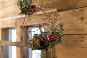 Wire Apple Basket Wedding Decor