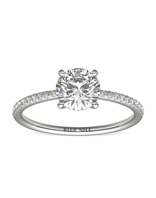 Blue Nile Round Cut Engagement Ring