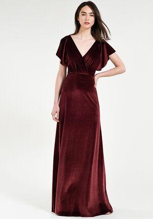 Jenny Yoo Collection (Maids) Ellis V-Neck Bridesmaid Dress