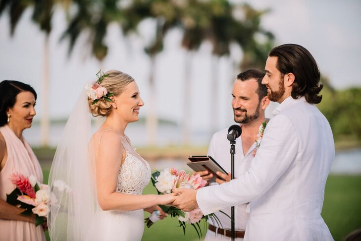 Casual Tropical Wedding Ceremony
