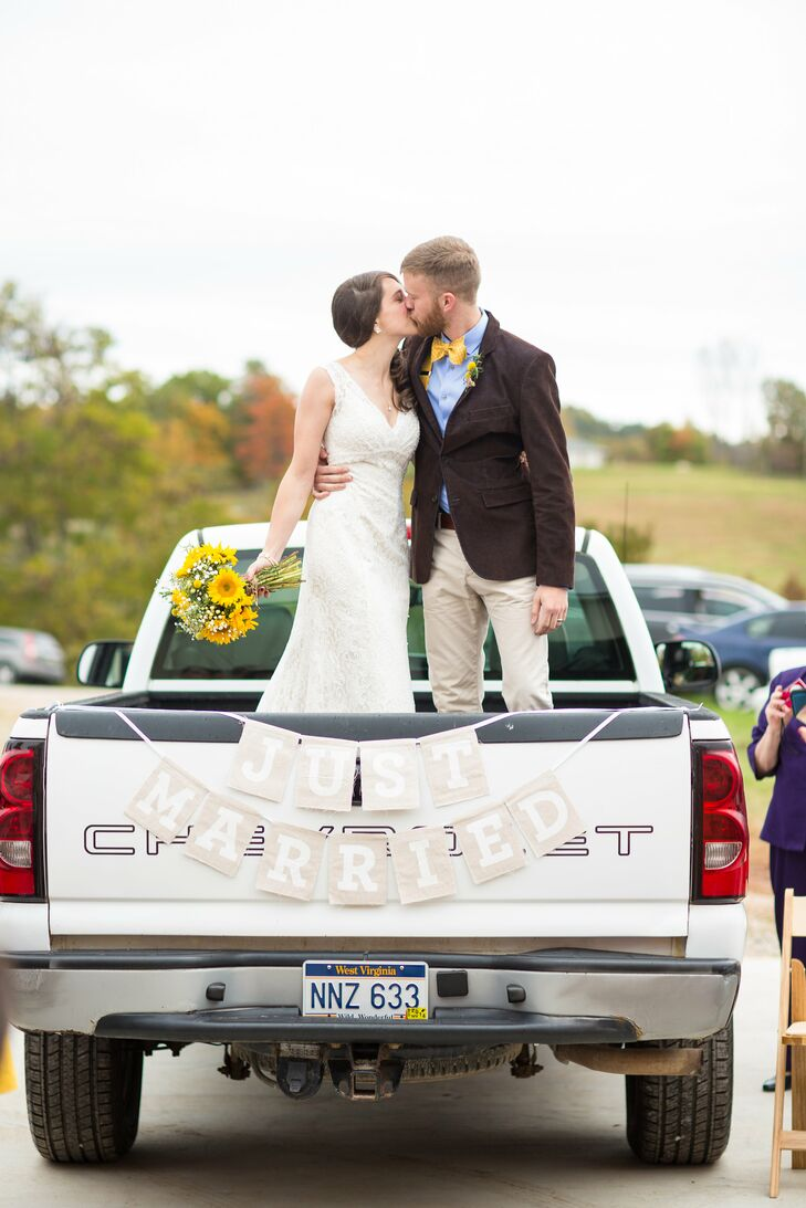 'Just Married' Car Sign