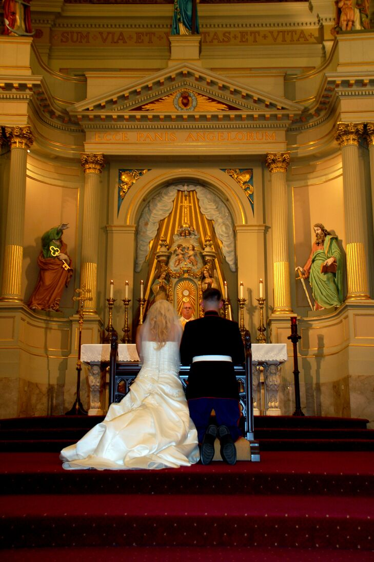 Marine Corps Wedding Ceremony in St. Louis Cathedral