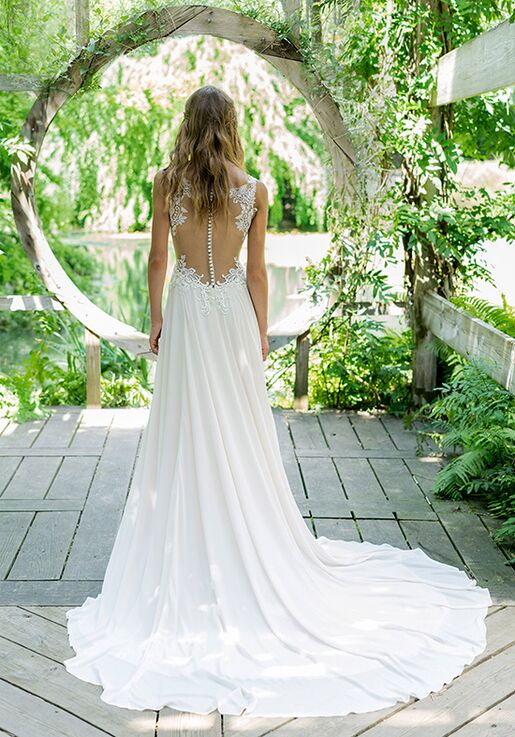 Lillian West 66022 A-Line Wedding Dress