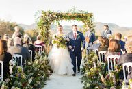 "Courtney Mills always wanted a garden-inspired wedding, and that idea took center stage when she wed  Dan Roberts. ""Ever since I was a little girl, I"