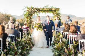 Romantic, Garden-Inspired Recessional at Hotel Domestique in Travelers Rest, South Carolina
