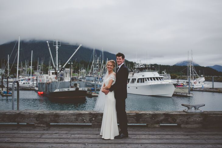 Megan Lehmann (30 and in marketing at LinkedIn) and Joe Hyland's (37 and the chief marketing officer at ON24) wedding on Whale Island in Alaska's Sitk