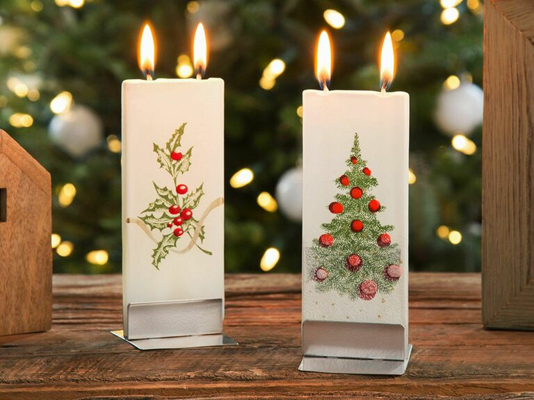 holiday candle gift for newlyweds