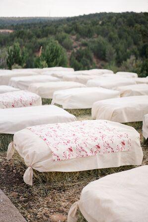Printed Fabric Hay Bale Seating