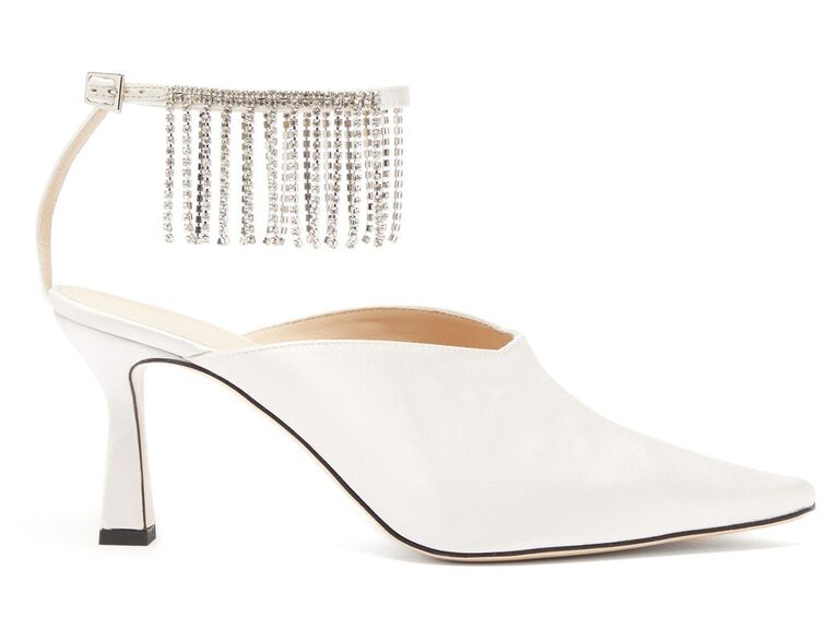 Fringe sparkly wedding heels