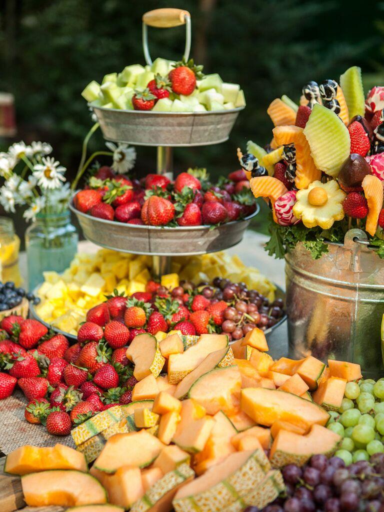 Wedding reception fruit