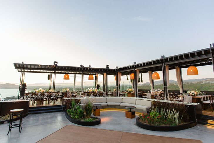 Chic Rooftop Reception