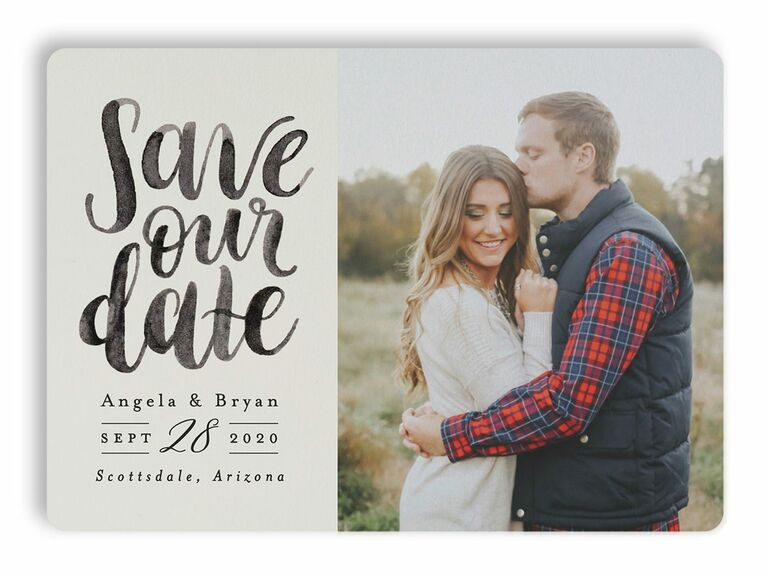 Brushed Date save-the-dates
