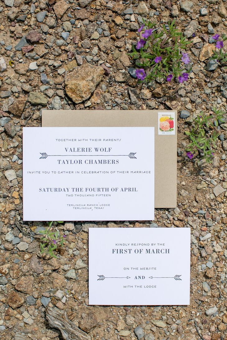 Rustic Neutral Wedding Invitation