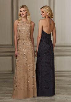 Adrianna Papell Platinum 40149 Halter Bridesmaid Dress