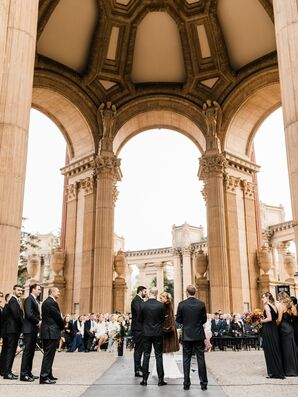 Elegant Ceremony at the Palace of Fine Arts