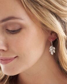 Dareth Colburn Crystal Leaf Earrings (JE-4159-S) Wedding Earring photo